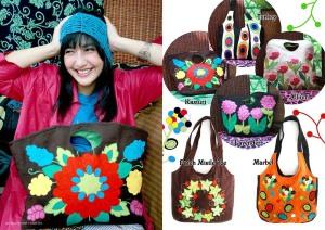 Tas shoulder, Tas jinjing, maika etnik, anekataslucu, patch mistle toe, handmade