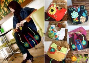 tas shoulder, maika etnik, tas lucu, handmade, bandung