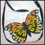 Tas Buatan tangan Maika Etnik Butterfly Painting MessengerBag