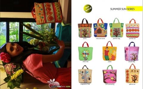 tas jinjing maika etnik 2012, handbag etnik maika, summer sun series