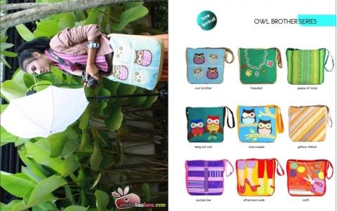 tas maika etnik 2012 hal owl brother, tas selempang wanita, tas lucu dan cantik