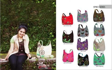 tas maika etnik 2012 hal spiro series, tas shoulder untuk kuliah sekolah atau hangout