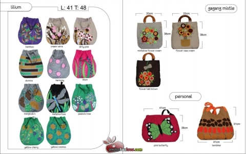 tas maika etnik 2012 hal lilium series, tas handmade terbaru