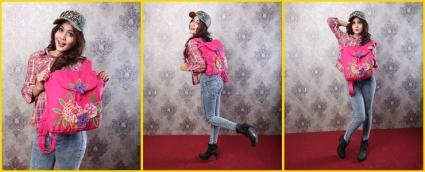tas ransel wanita flower vase, tas mordiva katalog 2015, model tas lucu terbaru
